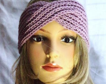 Merino Knitted Ribbon Soft Viotett