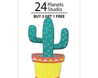 Cactus Mexico Iron on Patch by 24PlanetsStudio