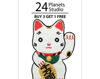 Meaw Kwak Cat Iron on Patch by 24PlanetsStudio