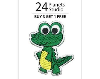 Alligator Kid Iron on Patch by 24PlanetsStudio