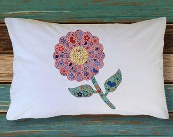 FRIENDSHIP FLOWER Gerbera Daisy Pillow Case Red & Purple Gift Decoration Room Decor Bedding  Microfiber Soft Pillowcase  Best Friend Gift