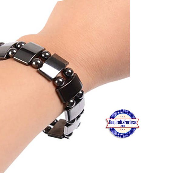 HEMATITE Bracelet, Magnetic Squares +FREE SHIPPING & Discounts*