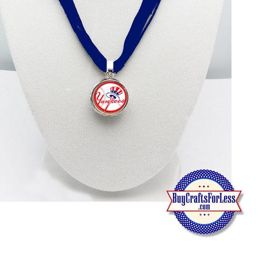 NEW YORK Baseball PENDaNT, CHooSE Logo and Ribbon Cord - Super CuTE!  +FREE SHiPPiNG & Discounts*