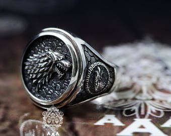 game of thrones ring etsy. Black Bedroom Furniture Sets. Home Design Ideas