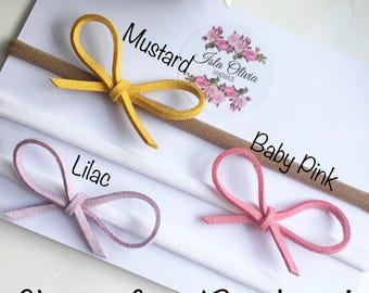 baby headbands, baby headband, bow headbands, dainty bow headband, dainties, baby bows, baby bow headband