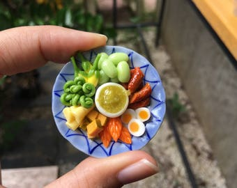 Miniature Naphrik Num | Magnets foods  | | Magnet foods | Thai Foods | Refrigerator Magnets |  Naphrik Num |  Naphrik Num foods
