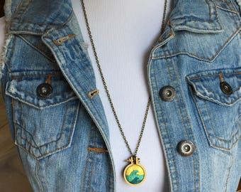Embroidered Wave Necklace