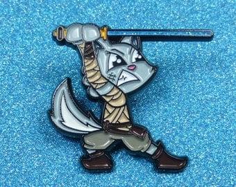 Star Wars inspired Rey Cat Enamel Pin |  Pin Badge | Pin Badges | Soft Enamel Pin Badge