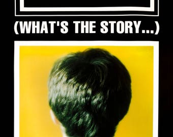Vintage Music Art Poster - Oasis Whats the Story  - 0563