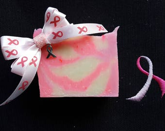 Pink Camo Soap for Breast Cancer Awareness with Free Bow (azalea, lily & lavender scent)