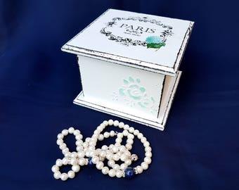 Decoupage Box Shabby chic box shabby chic Jewelry Box wooden jewelry box Jewelry storage Box Vintage Box shabby chic furniture Antique box