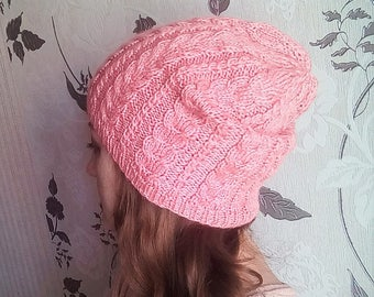 The beanie cap Strawberry mousse hat female pink