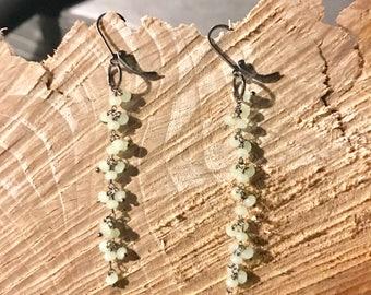 Prehamite waterfall earrings