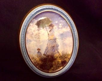 "GOEBEL Artis Orbis - Claude Monet "" Madame Monet "" Vintage Porcelain Wall Decoration"