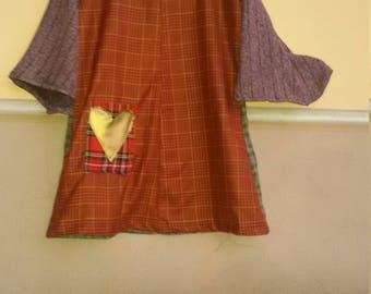 SHORT PATCHWORK DRESS