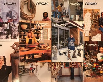 Ceramics Monthly Magazines - Complete Year 1993 10 issues