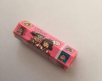 1992 vintage sanrio RURURU GAKUEN eraser made in japan