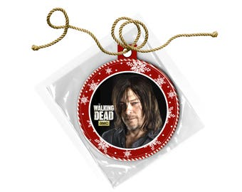 The Walking Dead Daryl Dixon Norman Reedus Christmas Ornament