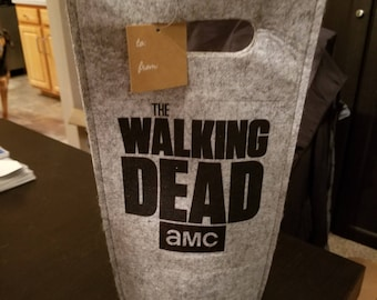 The Walking Dead Logo Felt Wine Bag