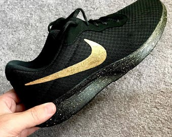 Nike Custom Painted Shoes - '24K' Nike shoes
