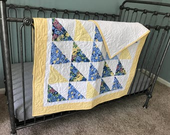 Flowers in the sunshine baby quilt/playmat