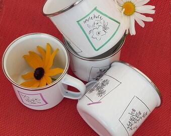 Enamel Mug - Floral Design