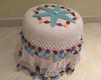 Tablecloth handmade in fine crochet for table