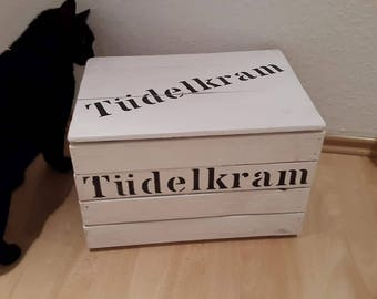 Toy Box, Tüdelkram, Tüddelkram, chest, box with lid, crate, wooden box, storage box, wooden chest, game box, toy chest, crate