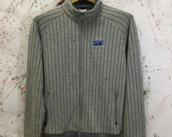 Sale 25% Very Rare 70s Patagonia Big White Logo Fleece Full zip Jacket Size M