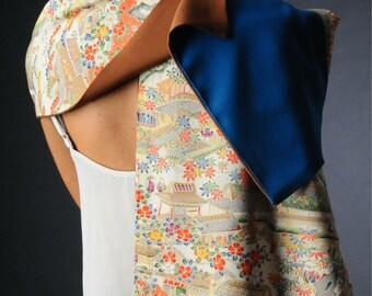 Japanese kimono silk scarf.