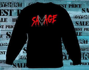 Savage Logan Paul sweatshirt or hoodie we can make the savage any color just ask best price fast shipping