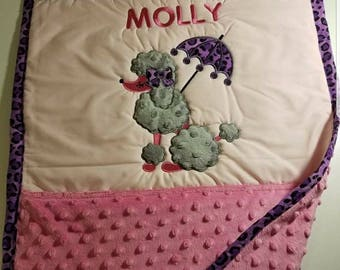 Personalized Poodle  Puppy blanket