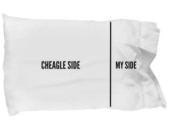 Cheagle Pillow Case - Cheagle Gifts - Cheagle Dog - Cheagle Plush - Cheagle Mom - Cheagle Pillowcase - Cheagle Side My Side