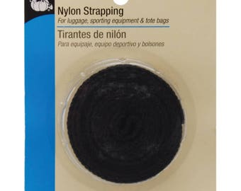 Nylon Strapping - Black, One Inch Wide