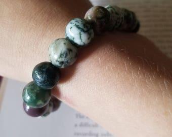 Green Jasper Bead Bracelet