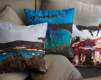 Set of 3 cushion covers Porquerolles