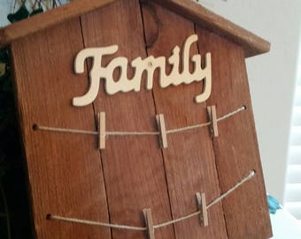 Rustic Wood Plaque for family photos