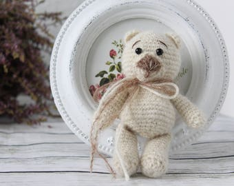 Amigurumi Bear, Mini bear, Soft Bear, stuffed animal bear, Crochet Bear, Teddy Bear,  baby photo prop, amigurumi soft bear, handmade bear