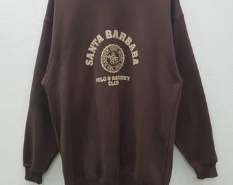 Vintage Santa Barbara Sweatshirts Big Logo Pullover Jumper Nice Design Large Size