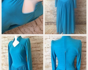 Unique turquoise vintage dress