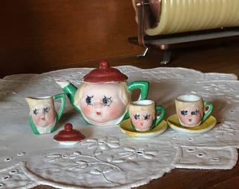 Googly Eye Tea Set in Bisque Finish