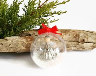 Christmas ornament white figurine