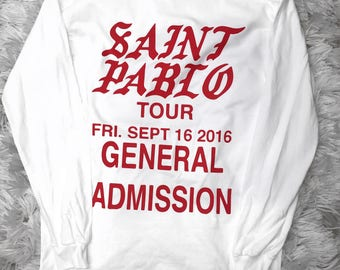 General Admission Kanye West Yeezy Saint Pablo Tour Long Sleeve Merch Camouflage Los Angeles