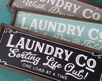 Laundry Co Sign Sorting Life Out One Load at a Time -- Farmhouse Magnolia Fixer Upper Joanna