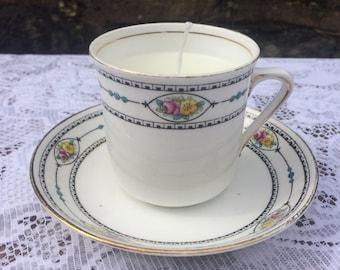 Vintage, Art Deco Teacup & Saucer Vanilla scented Candle