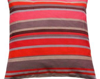 Pillowcase of happy stripes - fair trade, 100% cotton, 50x50cm, #218