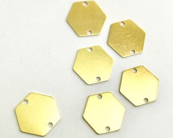10pc 12mm Hexagon 2 hole Connector