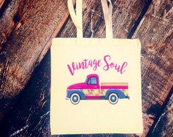 Vintage Soul tote bag