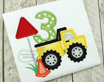 Sample Shirt - Dump Truck Birthday Shirt, Boy Birthday Shirt, Construction Birthday