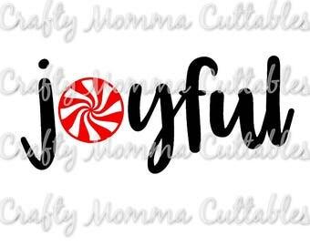 Joyful SVG file // Christmas Cut File // Joyful SVG //  Christmas Cut File // Christmas Silhouette File // Joyful